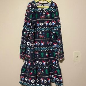 Hannah Andersson Christmas Gnome Flannel Gown